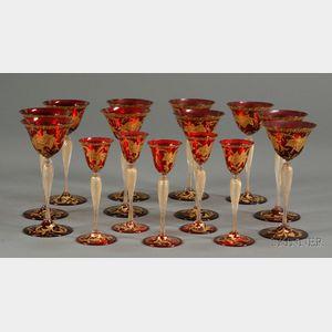 Collection of Venetian Stemware