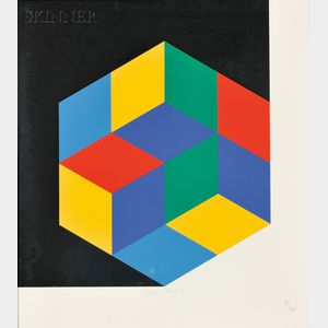 Victor Vasarely (Hungarian/French, 1906-1997)      Untitled (Hexagon)