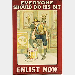 Baron Low Everyone Should Do His Bit   British WWI Lithograph Poster