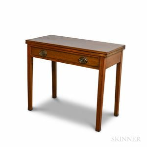 Federal Mahogany One-drawer Card Table