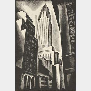 Howard Norton Cook (American, 1901-1980)      Chrysler Building
