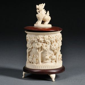 Faux Ivory Covered Box