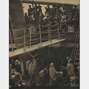 Sold for: $27,060 - Alfred Stieglitz (American, 1864-1946)      The Steerage