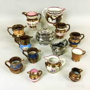 Small Group of Ceramic Lustre Tableware Items.