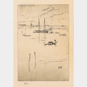 James Abbott McNeill Whistler (American, 1834-1903)      The Little Lagoon