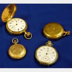 Four Waltham Pocket Watches