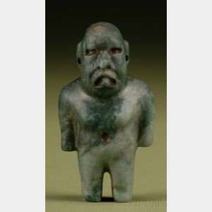 Pre-Columbian Carved Jade Figure