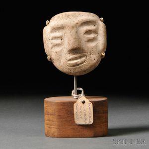 Mezcala Carved Stone Mask