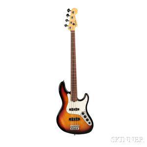 Fender American Deluxe Jazz Bass Fretless Electric Bass Guitar, 1998