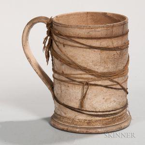 Make-do Repaired Creamware Mug