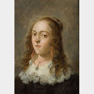 Manner of David Teniers, the Younger (Dutch, 1610-1690)  Portrait of a Lady