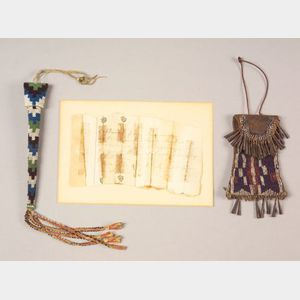 Historic Beaded Strike-a-Lite and Awl Case