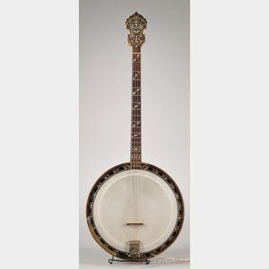 American Arch Top Tenor Banjo, William Lange, New York, c. 1922, Paramount Style A