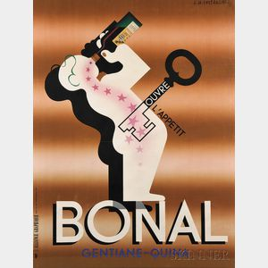 (Adolphe Mouron) Cassandre (French, 1901-1968)      Bonal