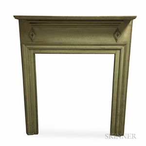 Green-painted Pine Mantel