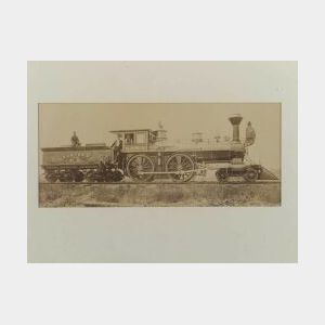 Albumen Print Photograph Of The Eastern Railroad Company's Locomotive 75