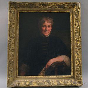 Matteo Sandona (American, 1881-1964)      Half-length Portrait of a Woman in Black.