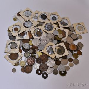 Group of Mostly Foreign Coins