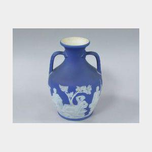 Wedgwood Dark Blue Jasper Portland Vase.