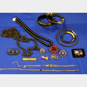 Seven 14kt Gold and Gem-set Pieces and Other Items