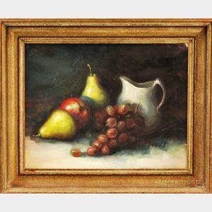 Oscar Durand (American, b. 1936)      Still Life with Fruit