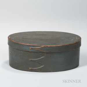 Blue-painted Oval Shaker Pantry Box