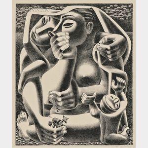 Emilio Amero (Mexican, 1901-1976)      Donde? (Where?)