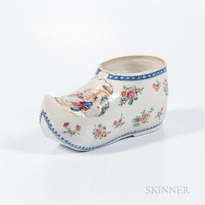 Export Polychrome Enameled Shoe