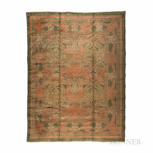 "Ushak Carpet with ""Voysey""-style Arts and Crafts Design"