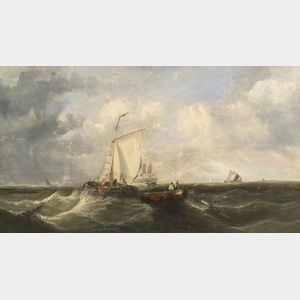 Attributed to James Webb (British, 1825-1895)    Marine Scene
