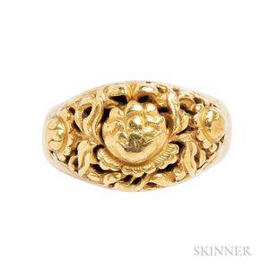 Antique High-karat Gold Ring