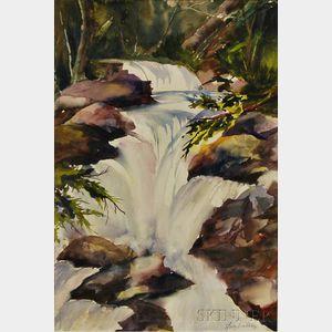 Judy Dimbleberry (American, 20th/21st Century)      Waterfall