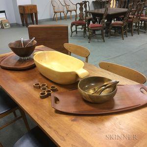 Group of Dansk Wooden Tableware