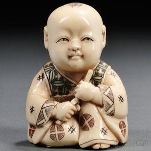 Ivory Netsuke of a Boy