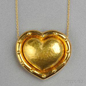 18kt Gold Heart Pendant, Paloma Picasso, Tiffany & Co.