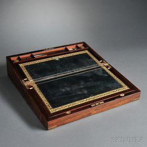 Brass-mounted Rosewood Lap Desk