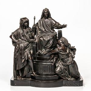 Bronze Depiction of the Judgement of Solomon