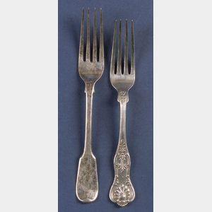 Twelve British Silver Forks