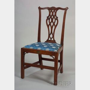 Chippendale Birch Carved Side Chair