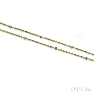 18kt Gold and Turquoise Chain, Cartier