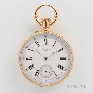 James Nardin 18kt Gold Open-face Watch