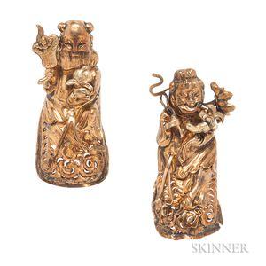 Pair of Antique Silver-gilt Fingernail Protectors