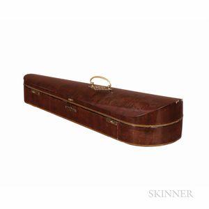 English Mahogany Dart Violin Case, W.E. Hill & Sons