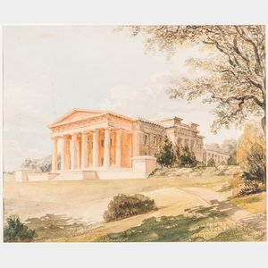 Charles Robert Cockerell (English, 1788-1863)      View of a Classical Building
