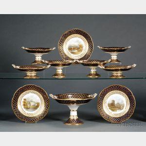 Twenty-five Piece Handpainted Porcelain Luncheon Service