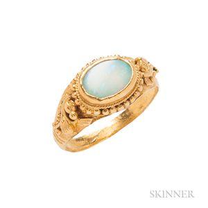 Antique High-karat Gold and Opal Ring