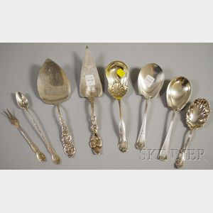 Eight Sterling Flatware Servers