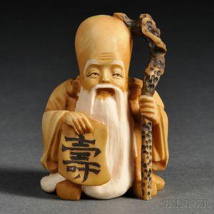 Ivory Netsuke of Juro