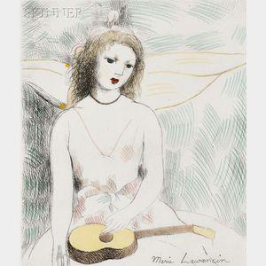 Marie Laurencin (French, 1885-1956)      Jeune fille à la guitare