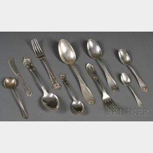 Approximately Fifty-five Pieces of Assorted American Sterling Flatware